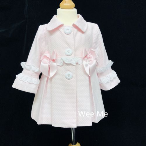 New Arrival Gorgeous Baby Girl Wee Me Frilly Back Jacket